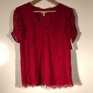 Joie brianda lace top Size medium